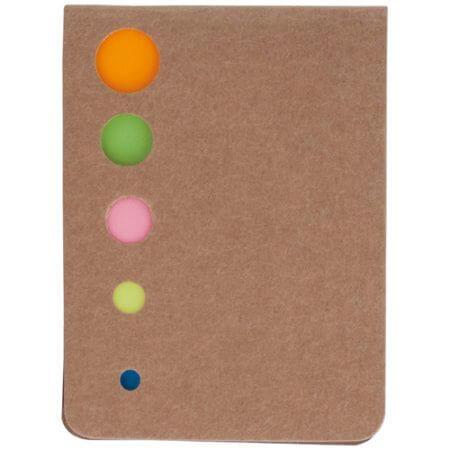 Bloc de notas con notas adhesivas.
