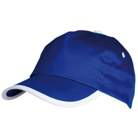 Gorra de 5 paneles. Ajustable con velcro.