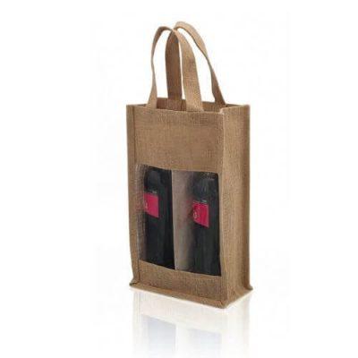 bolsa para dos botellas de vino
