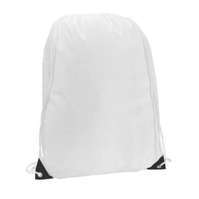 mochila blanca de cuerdas