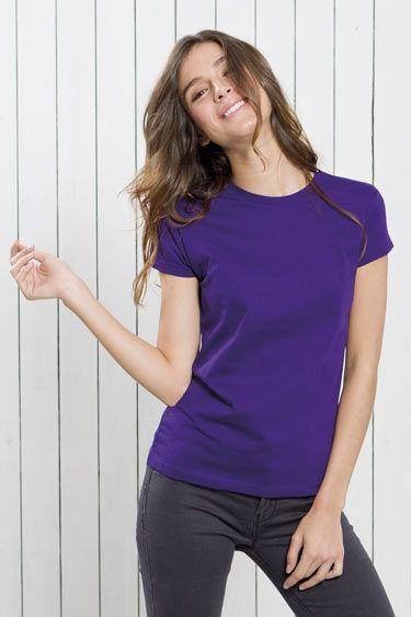 camiseta mujer cuello redondo