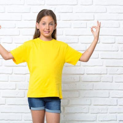 Camiseta niña algodon