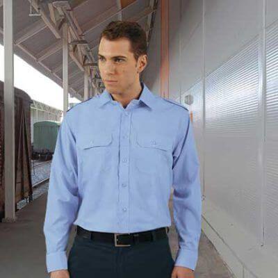 Camisa laboral manga larga