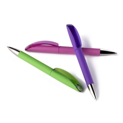 Bolígrafos de plástico elis gom clip clear